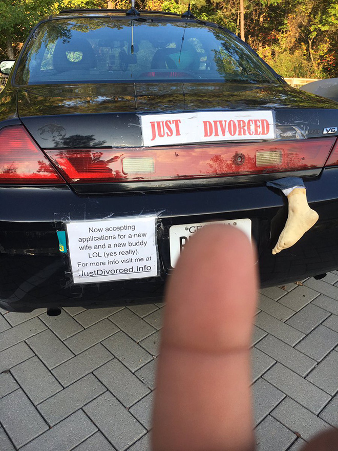 Just divorced. Now accepting applications.