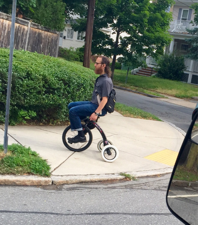 This is how hipsters drive around the city.