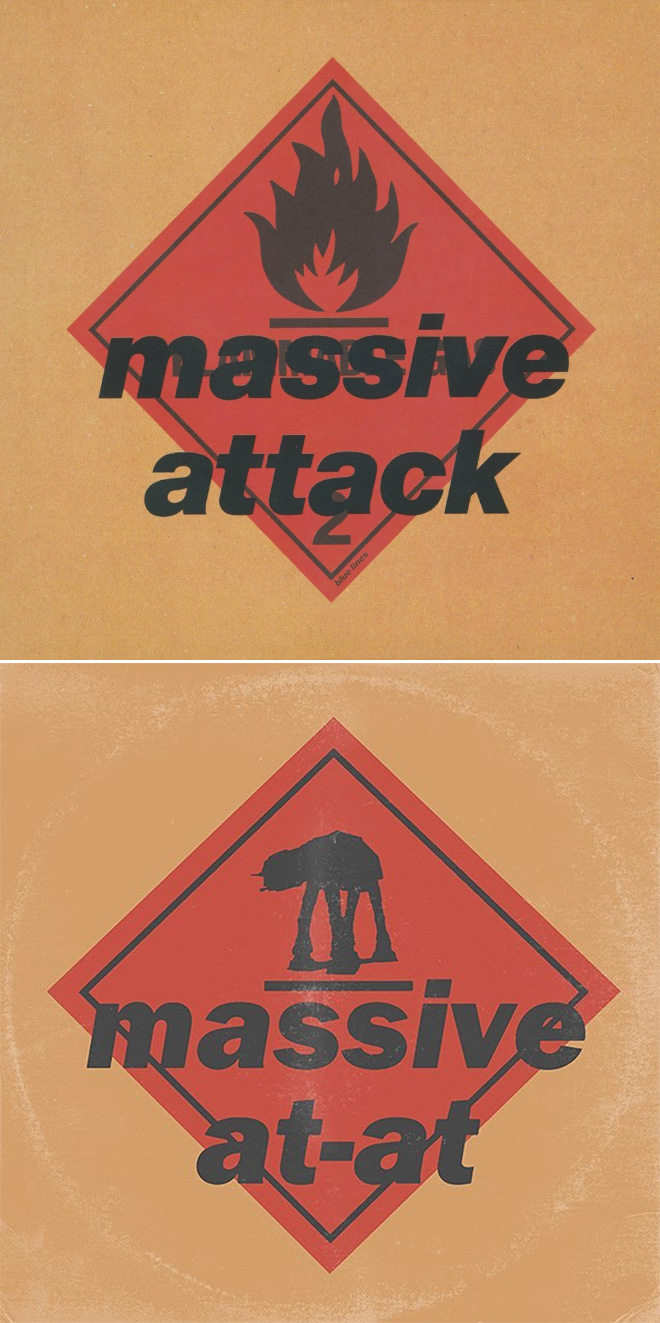 Massive Attack album cover improved with Star Wars characters.