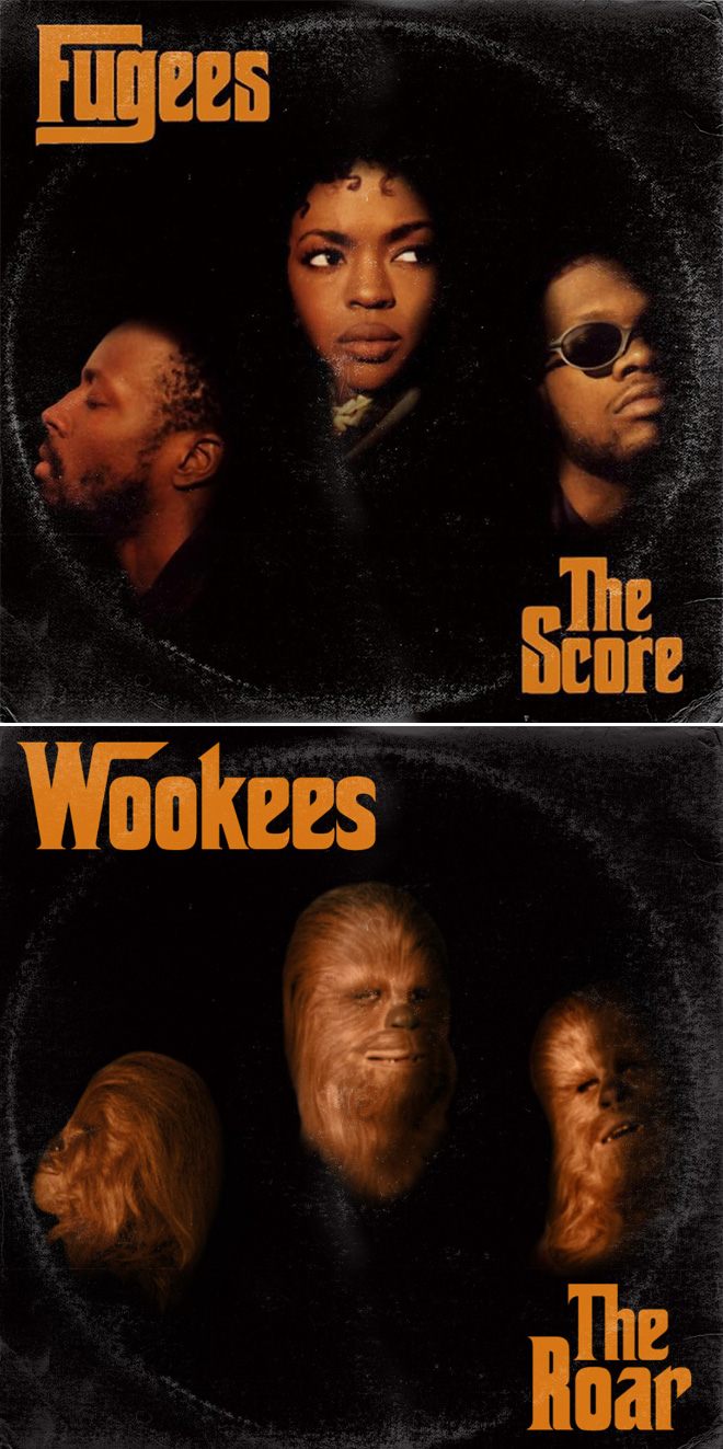 Fugees album cover improved with Star Wars characters.