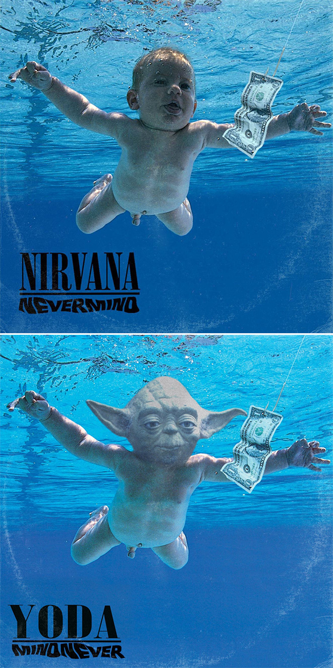 Nirvana album cover improved with Star Wars characters.