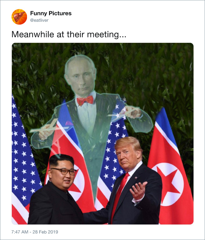 Meanwhile at their meeting...
