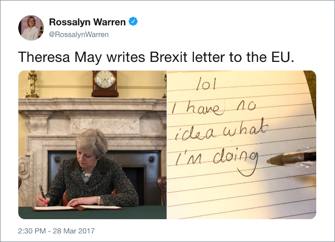 One of the funniest Brexit tweets.