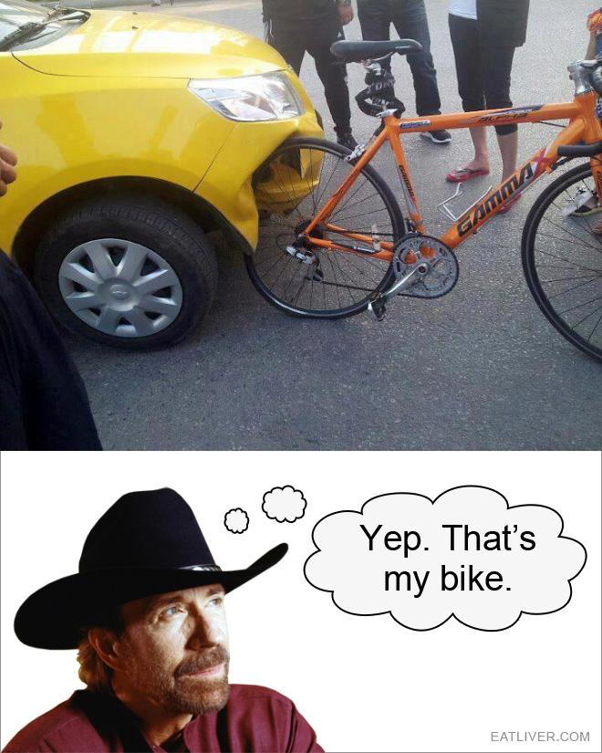Yep, that's definitely his bike.