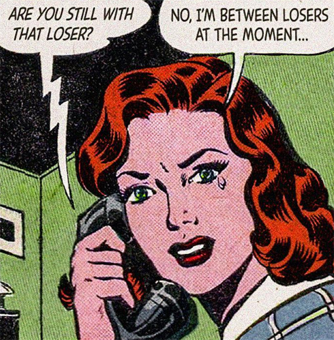 Classic comic book combined with modern love...