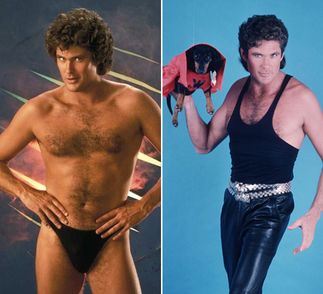 Awkward old publicity photos of David Hasselhoff.