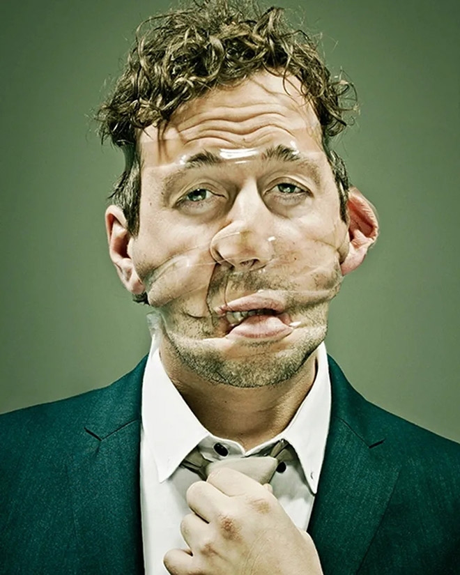 When scotch tape meets face...