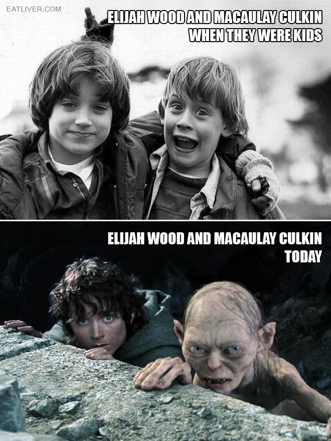 Elijah Wood and Macaulay Culkin: then vs. now.