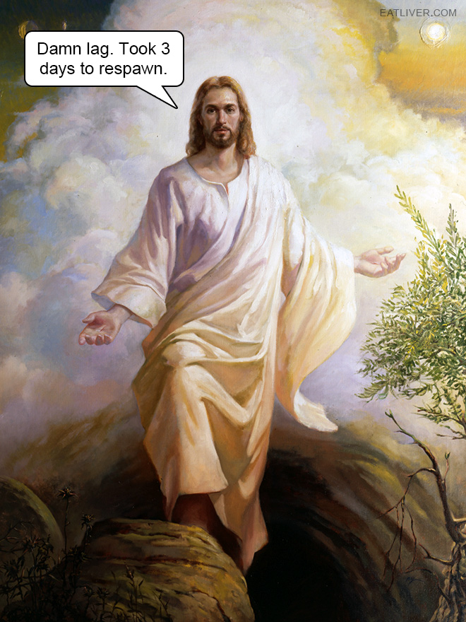 Gamer Jesus is not amused.