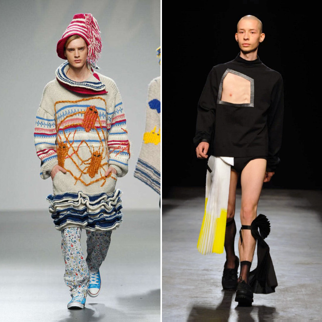Weird men's fashion.