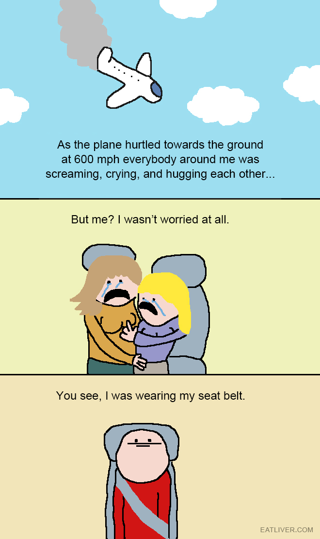 As the plane hurtled towards the ground at 600 mph everybody around me was screaming, crying, and hugging each other...