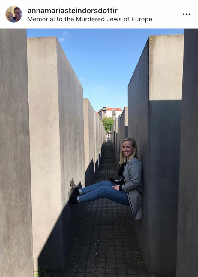 When selfie generation visits Holocaust Memorial in Berlin...