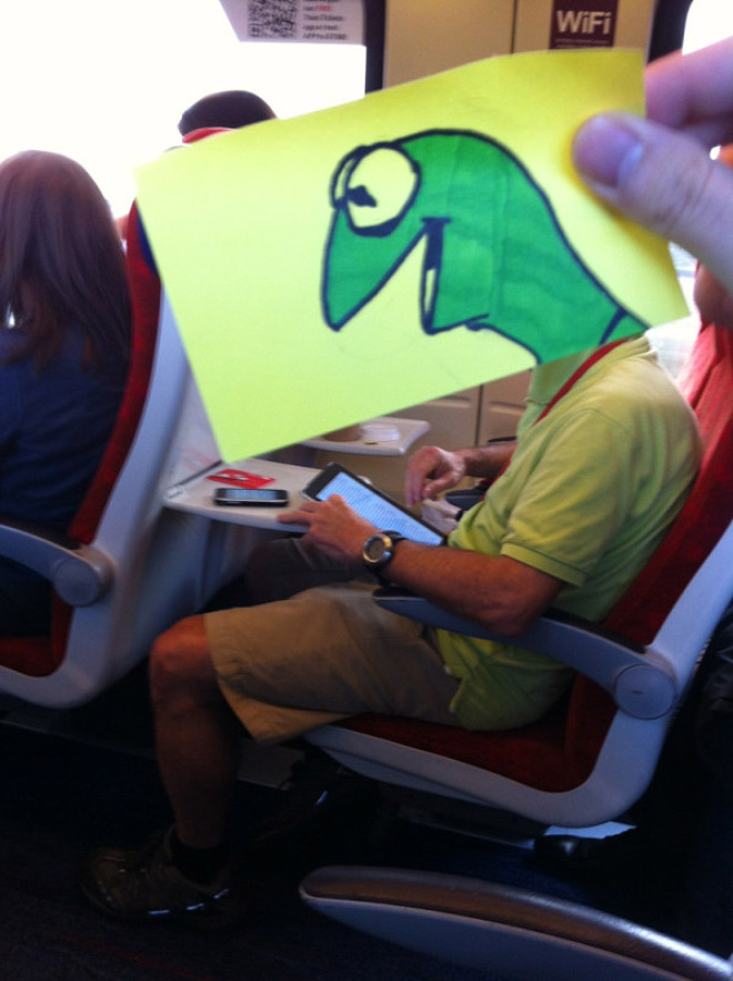 Great way to pass time on the train.