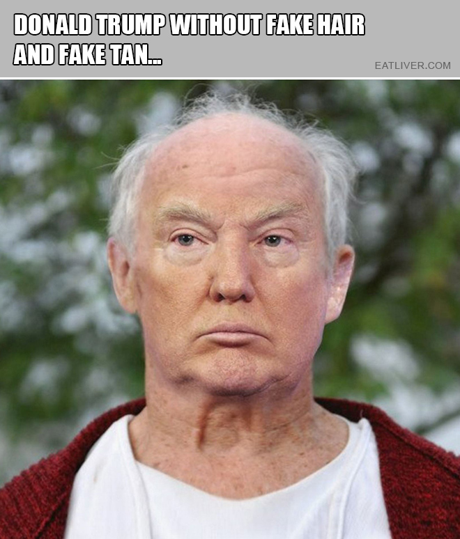 Let's face it, Donald Trump is an old man.