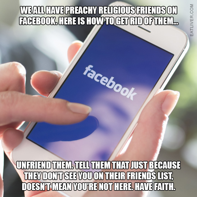 How to deal with Facebook preachers.