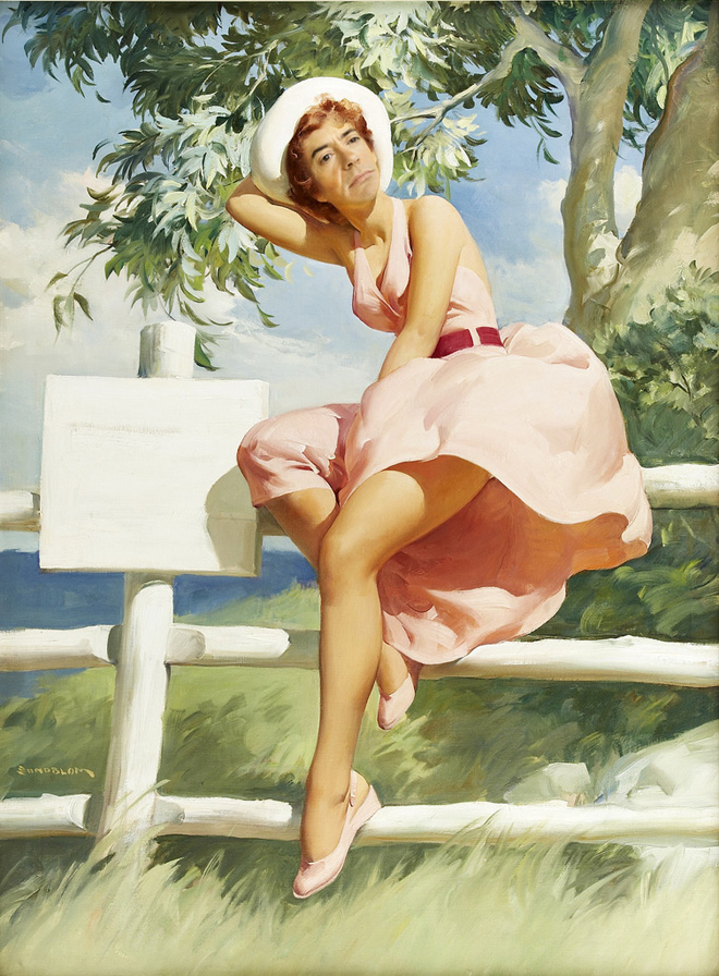 Robert Downey Jr. as a pin-up girl? Why not.