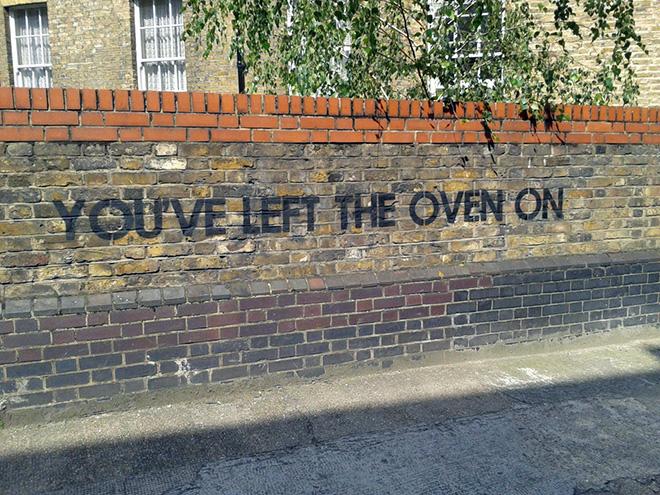 Random of act of funny vandalism.