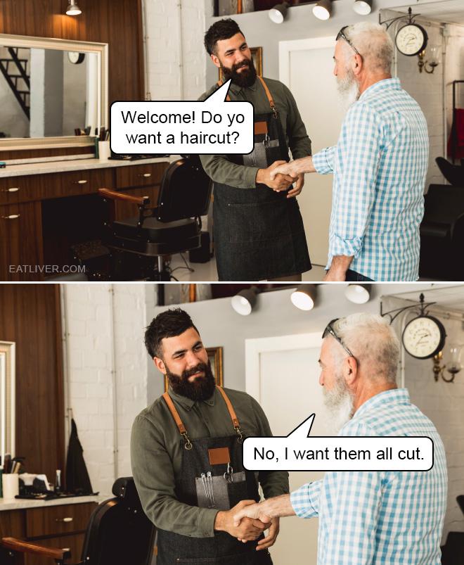 Barbershop dadjoke.