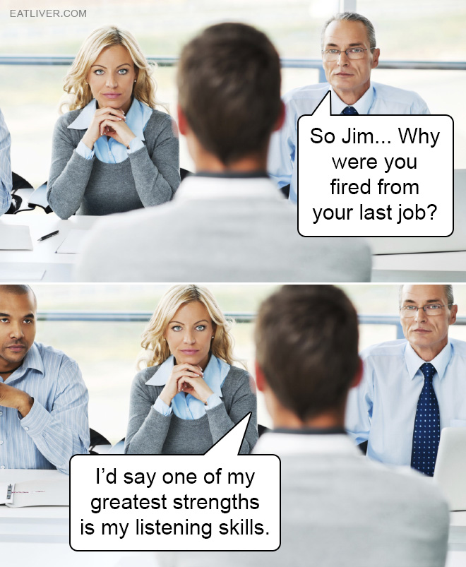 He clearly nailed the job interview.