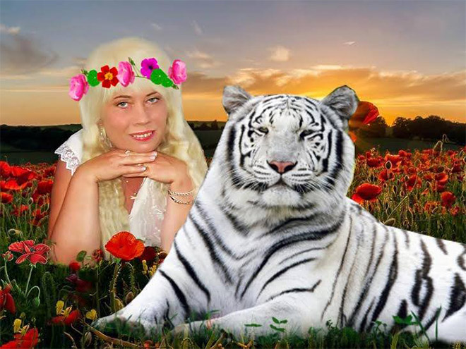 Typical Russian social network profile picture.