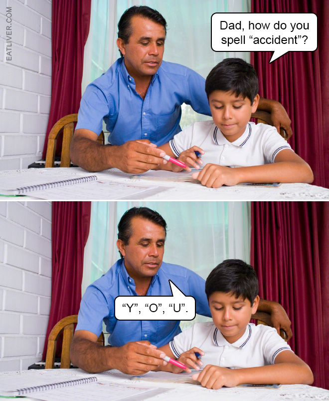 Learning to spell.