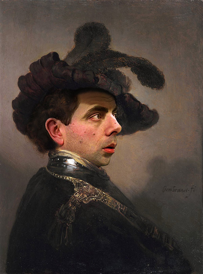 Everything is better with Mr. Bean. Even classic paintings.