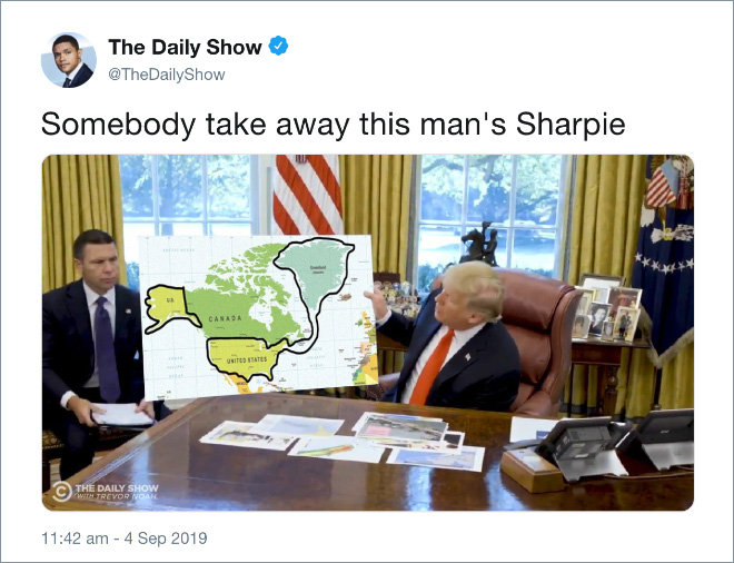 Trump thinks he can fix anything with a sharpie.