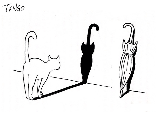 Simple, clever cartoon by Shanghai Tango.