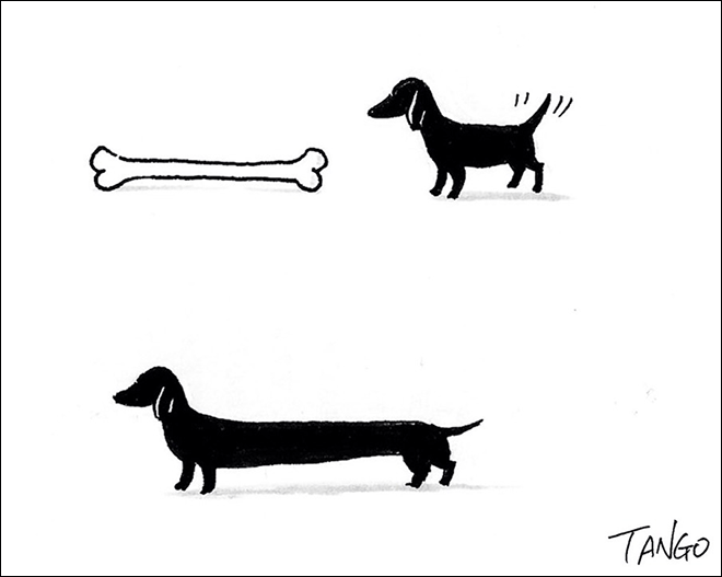 Simple, clever cartoon by Shanghai Tango.