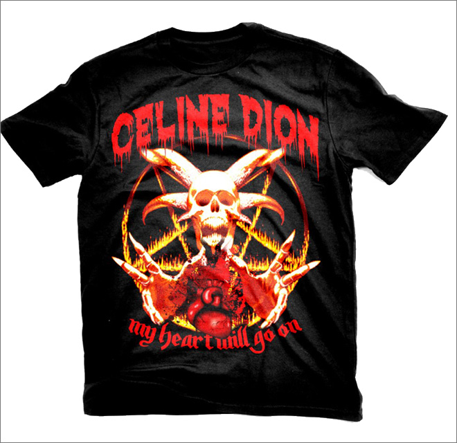 Metal t-shirt for a pop star? Why not.
