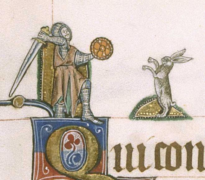 Bunnies were very violent in medieval art.
