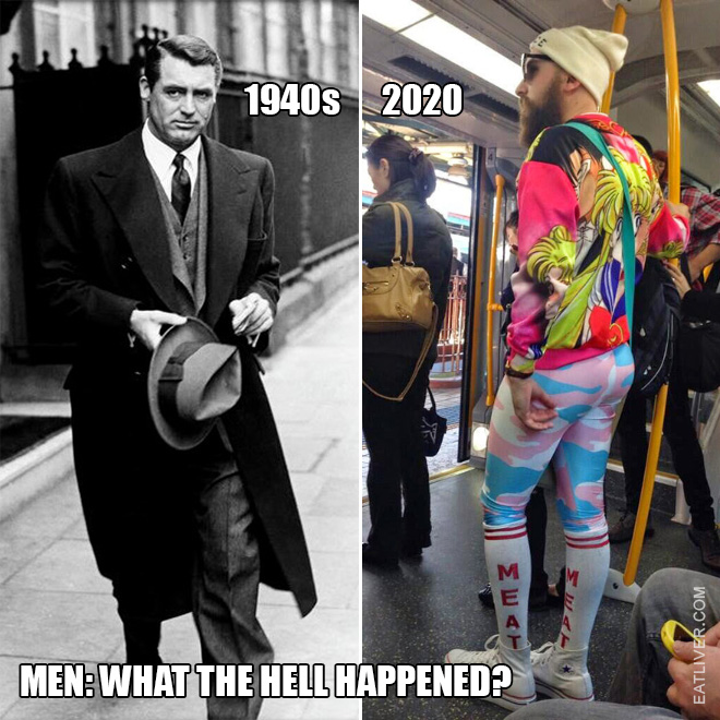 Men: 1940s vs. 2020
