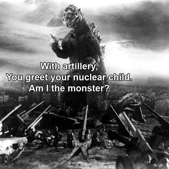 Godzilla haiku.