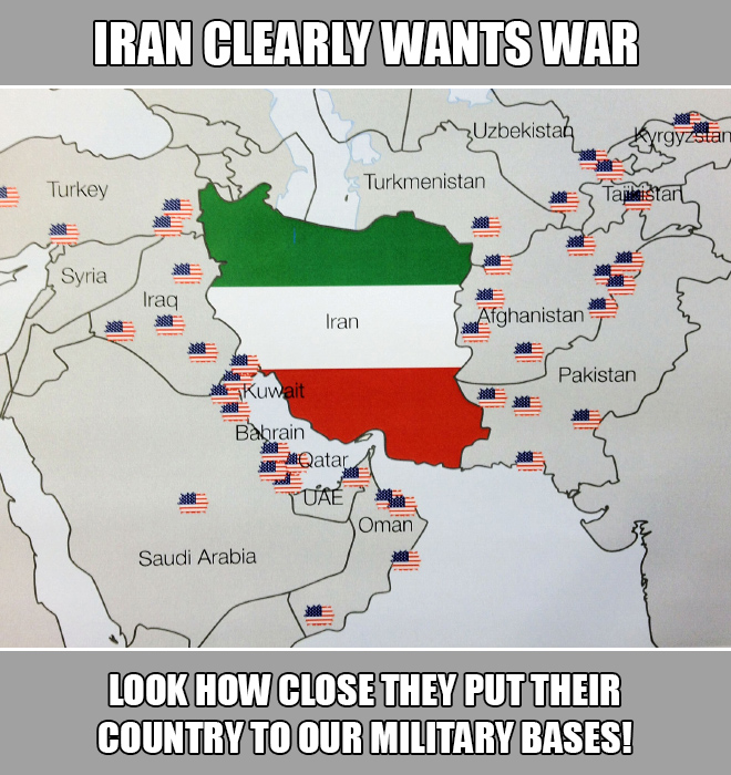 Look how close they put their country to our military bases!