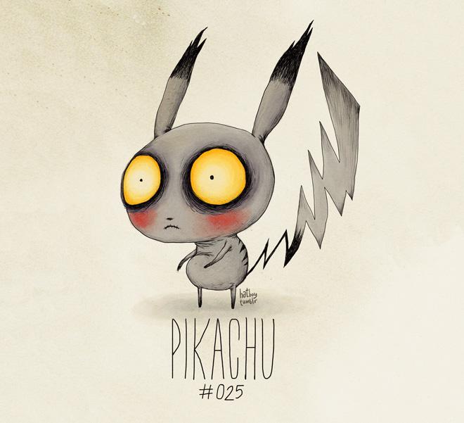 What if Pokémon were drawn by Tim Burton?