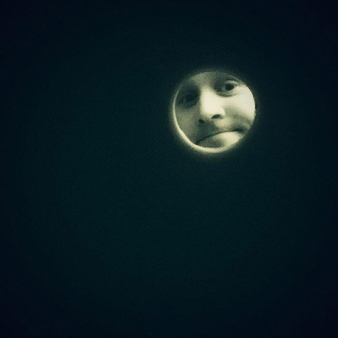 Taking a selfie through toilet paper roll will make you look like the Moon.
