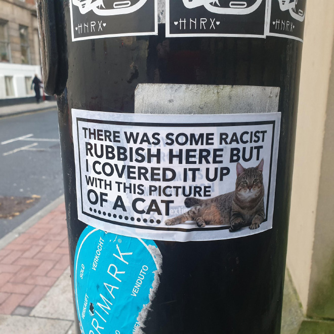 Clever way to fight racism.