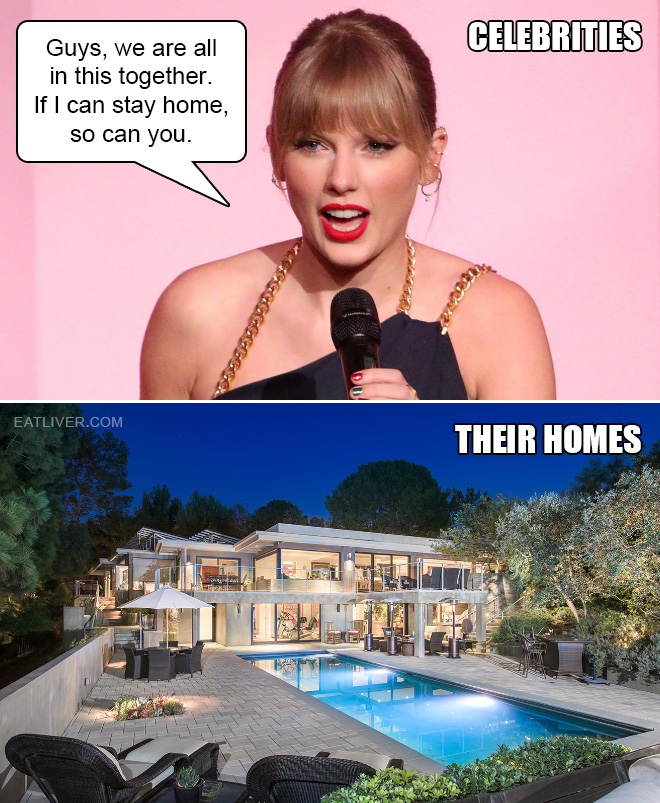 If celebrities can stay home, so can you.