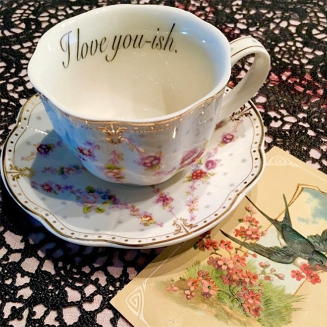Funny rude teacup to insult your guests.