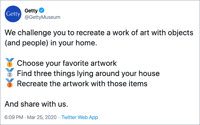 Art recreation challenge.