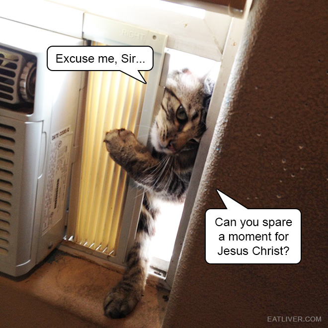 Can you spare a moment for Jesus Christ?