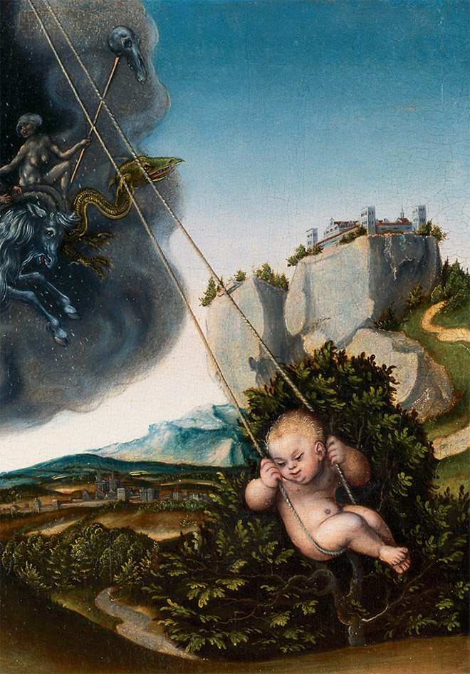 Some renaissance era artists were terrible at drawing babies.