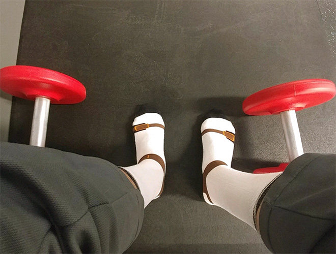 Sandal socks? Sock sandals? Why not!