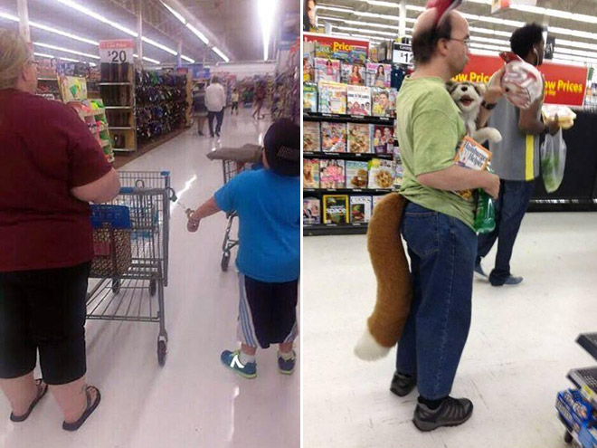 Walmart is a crazy place.