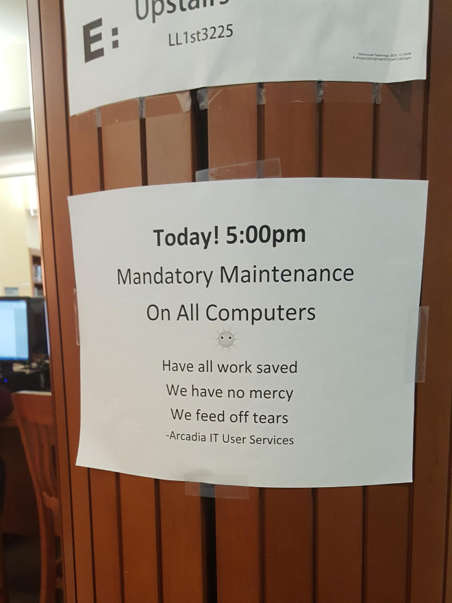 Who said libraries are boring and librarians don't have a good sense of humor?