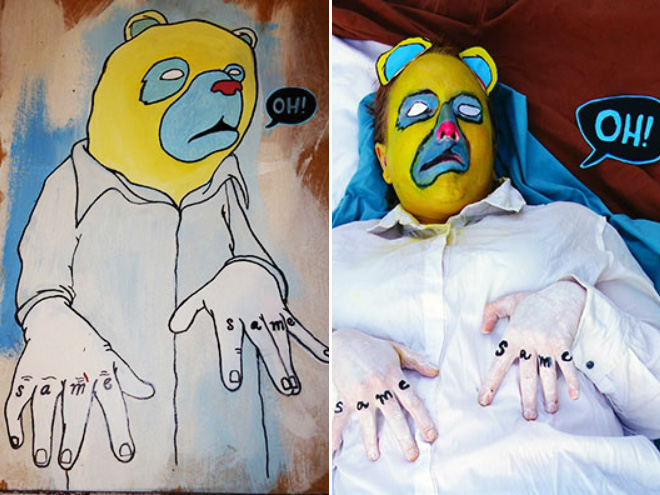 bad amateur painting hilariously recreated.