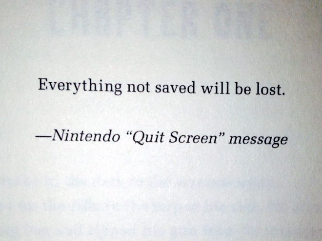 Awesome book dedication.
