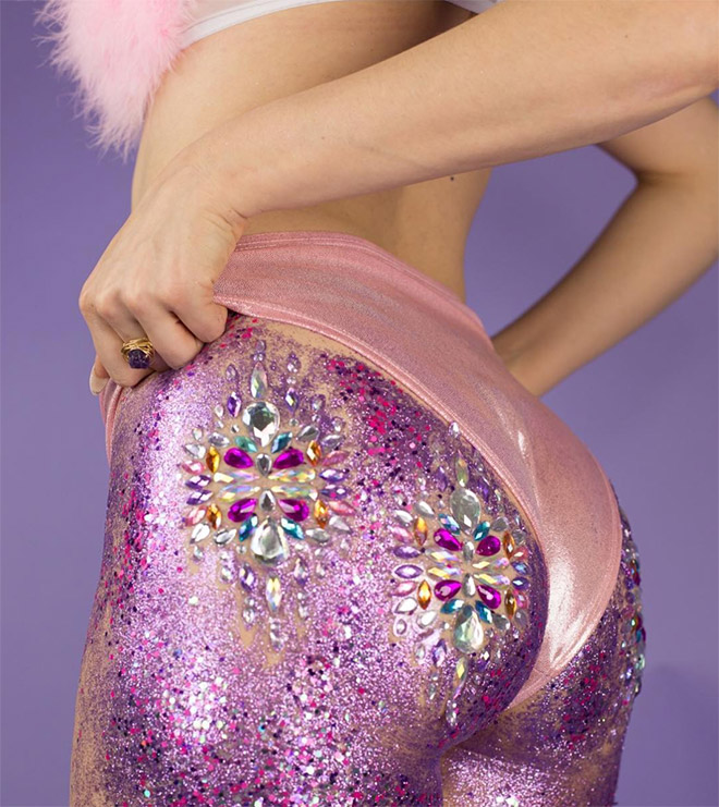Glitter butt.