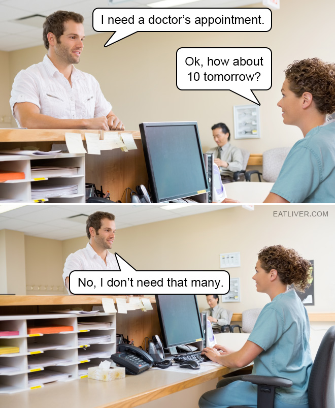 Just one doctor please.