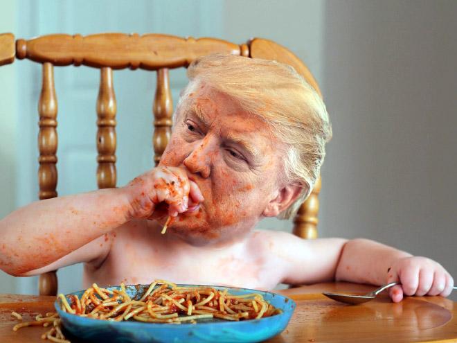 Donald Trump meets Adobe Photoshop.